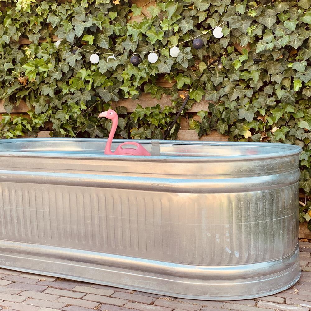 bad kuip stocktank zink verzint gegalvaniseerd voor in de tuin