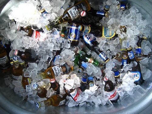 koude drankjes in de stocktank