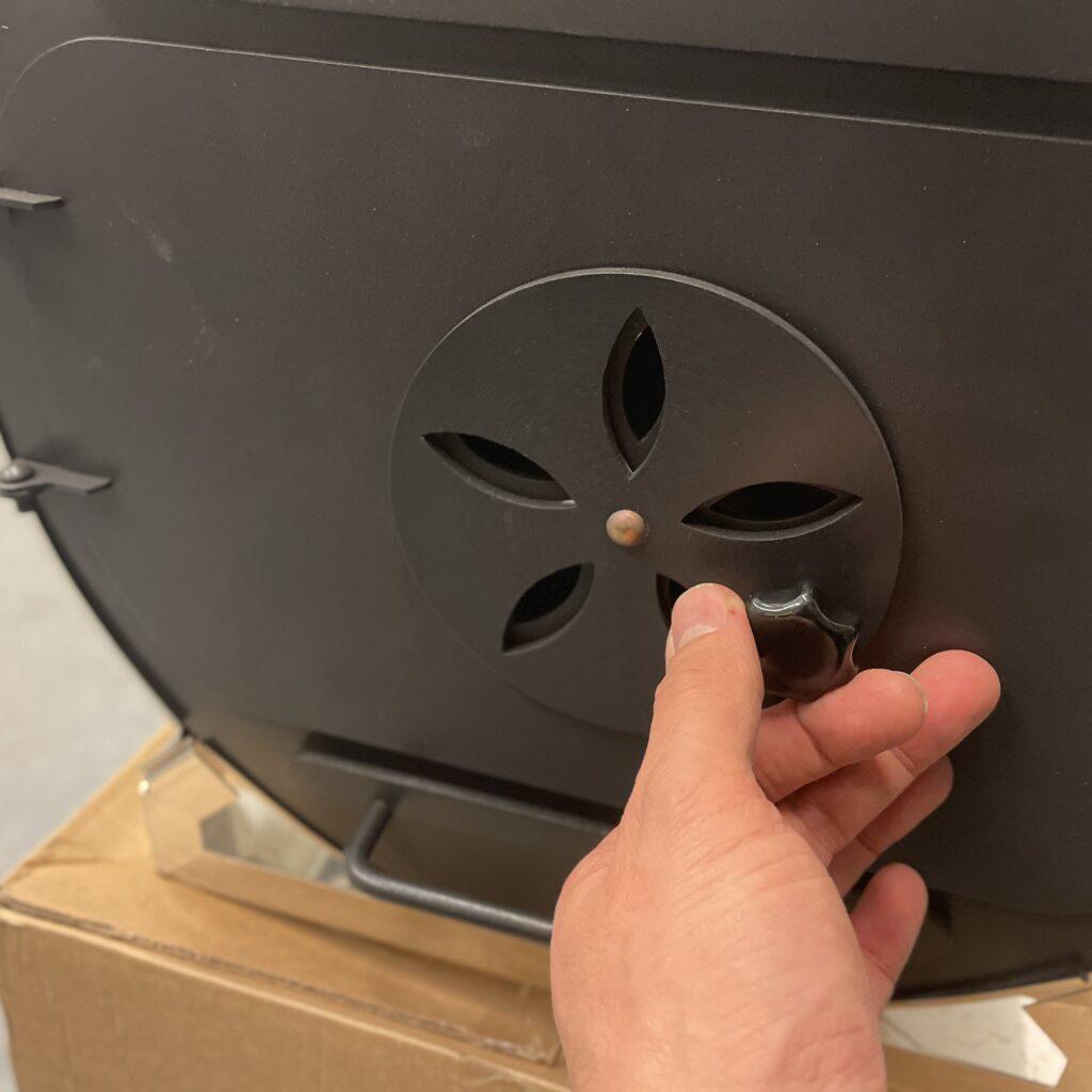luchtgaten heater open voor meer warmte