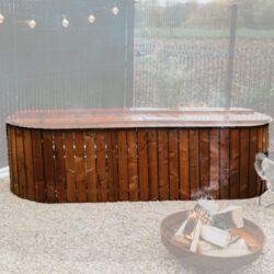 stocktank ovaal houten ombouw
